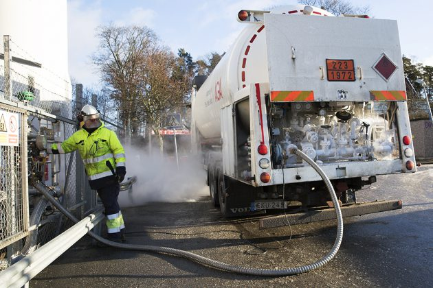 Tankbil med fordonsgas